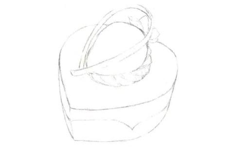儿童心形蛋糕怎么画(1)